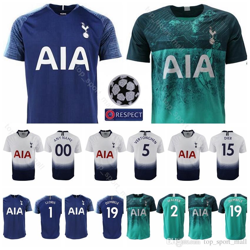buy online 7fd9f e9e81 18 19 Season Hot Spur 2 Trippier Jersey Men Soccer 19 DEMBELE 15 DIER 1  LLORIS 5 VERTONGHEN Football Shirt Kits Uniform