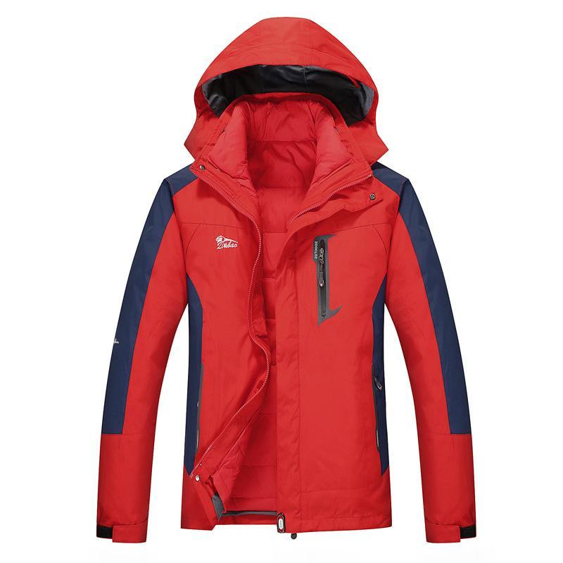 5dc6bb5cdf Winter Ski Jacket Men Waterproof Snowboard Jacket Snow Down Windproof  Two-pieces Mens Ski Thermal Plus Size Brand Skiing Jackets Cheap Skiing Jackets  Winter ...