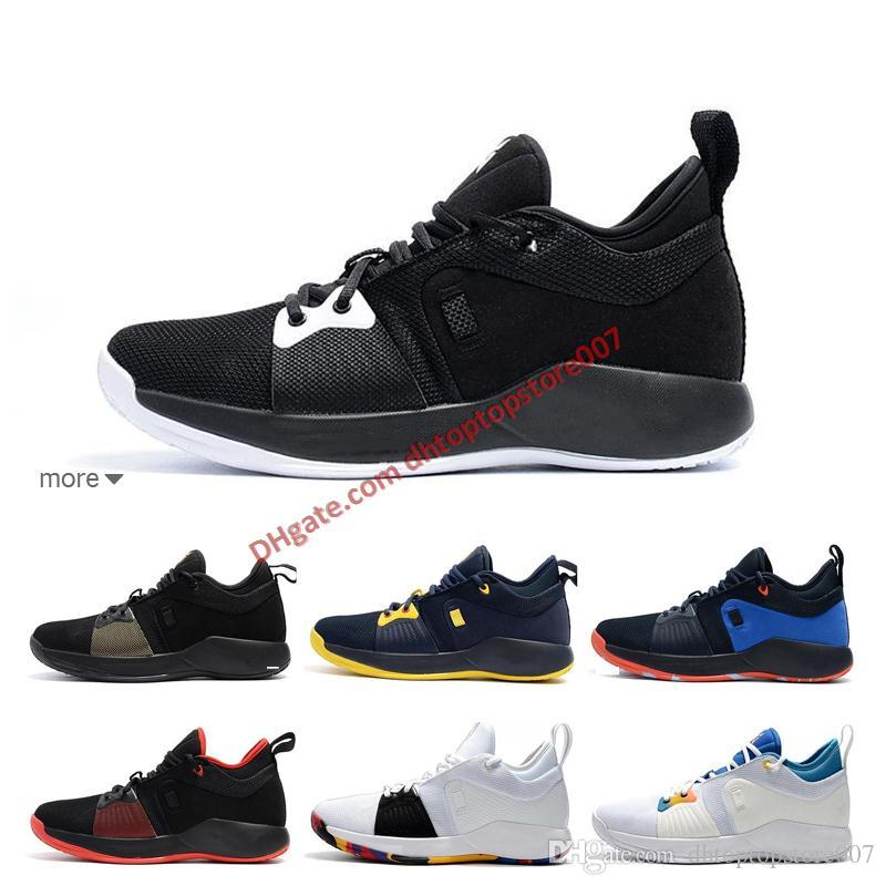 the best attitude d7ff3 9b142 2019 Paul George PG 2 TS GS ID EP PALMDALE II Basketball Shoes Cheap PG2 2S  Starry Blue Orange Red Black Sports Sneakers Size 40-46