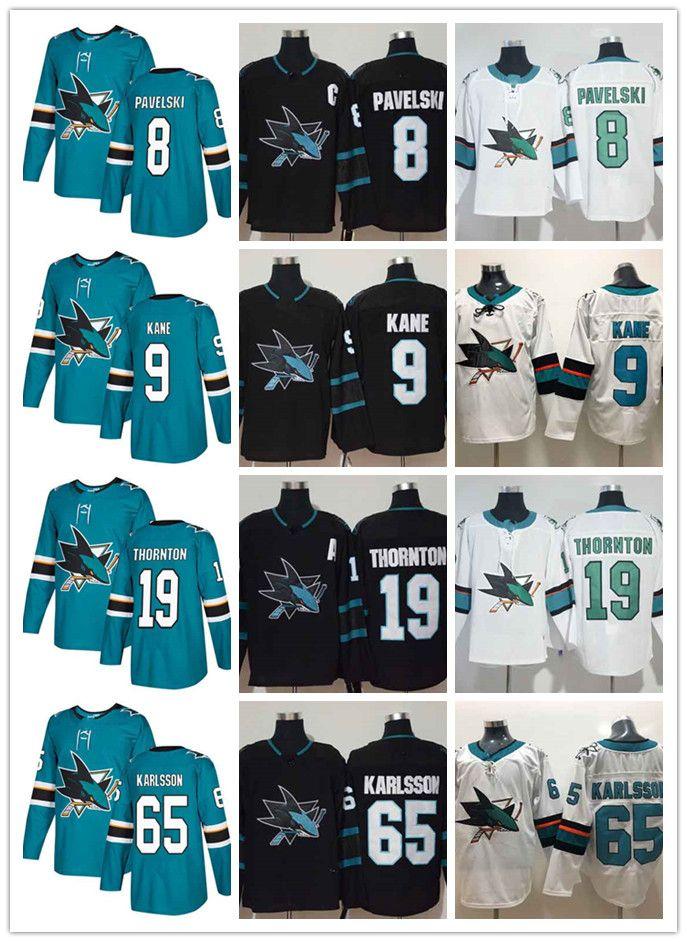 the best attitude 0d58b 2ce40 San Jose Sharks Ice Hockey Jersey High Quality Joe Pavelski Black Alternate  100% Stitched NHL Jersey Men Teal Home White Road Erik Karlsson