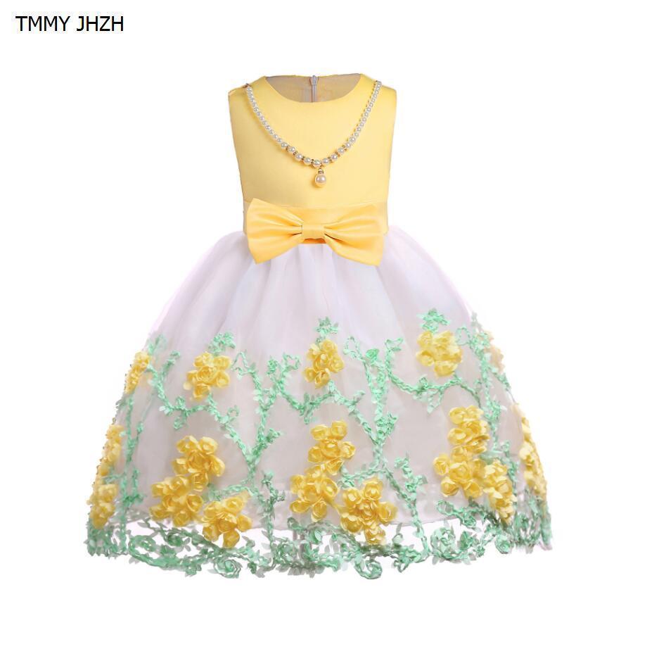 bd55494179d1 Acquista Vestito Da Bambino Neonate Abiti Da Principessa 2019 Abiti Estivi  Perla Bambine Abbigliamento Bambini A  37.7 Dal Zerocold09