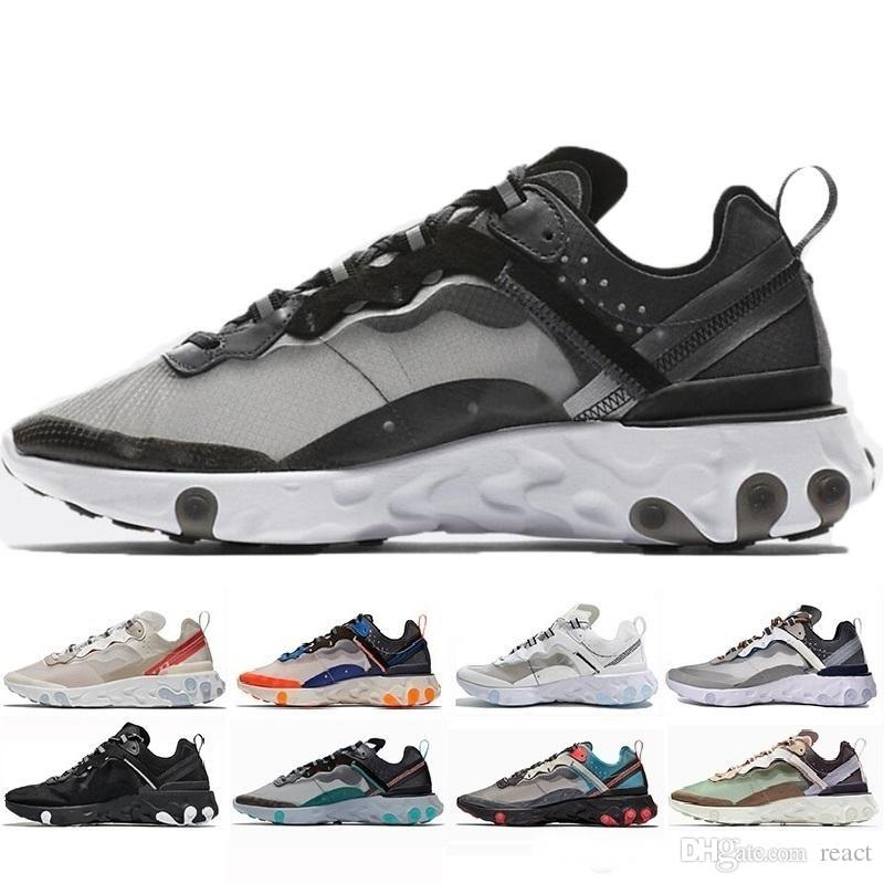 best service cec07 68170 Acquista Epic React Element Nike Air Max Airmax 87 2019 Uomo Donna Scarpe Da  Ginnastica Da Uomo Luce Nero Sail Light Bone Escursioni Jogging Zapotos 36  45 A ...