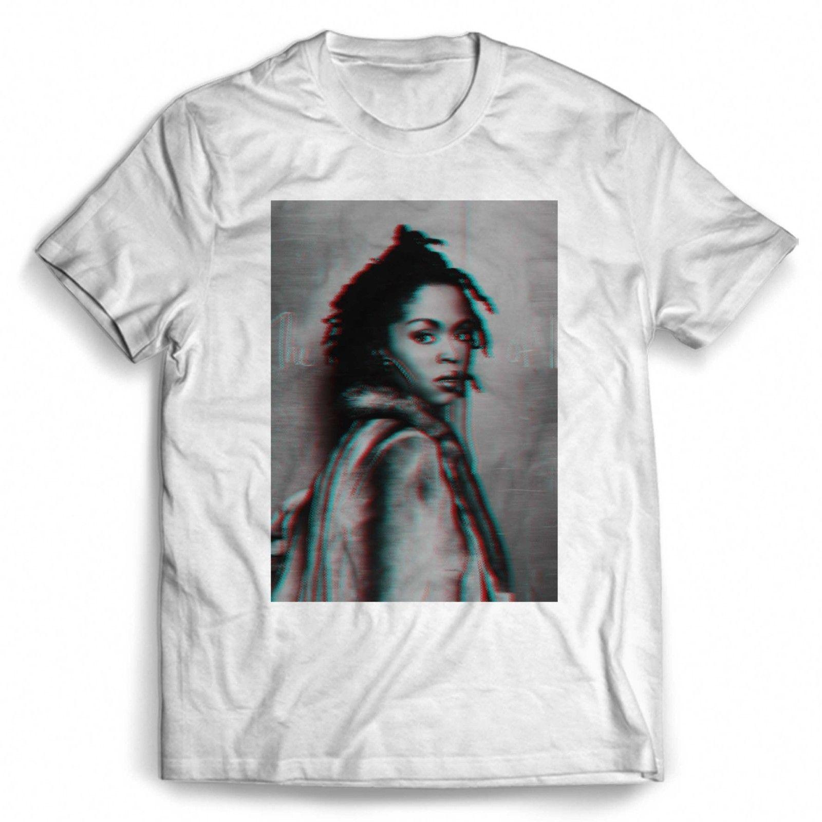 1071458d Lauryn Hill Glitch Effect Man / Woman T Shirt White Black Grey Red Trousers  Tshirt Random T Shirts Poker T Shirts From Onefulcup, $16.24| DHgate.Com