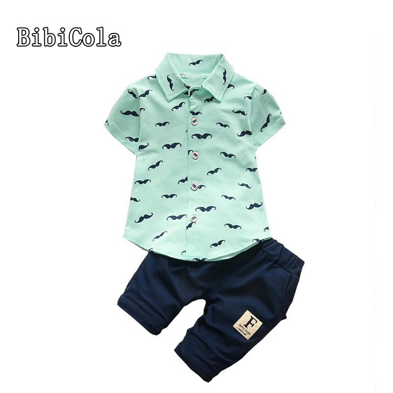 51f64385 2019 Good Quality Summer Baby Boys Clothes Suits Infant Cotton Suits Casual  Overall Small Beard T Shirt+Letter Shorts Children Kids Suits From  Westbit16, ...