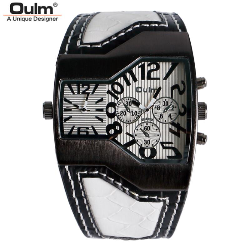 8ad93b4c006 Masculino OULM Mens Watches Top Brand Luxury Big Watch Man Quartz Military  Sport Watch Genuine Leather Men S Wristwatch Relogio Masculino Online Watch  Sales ...