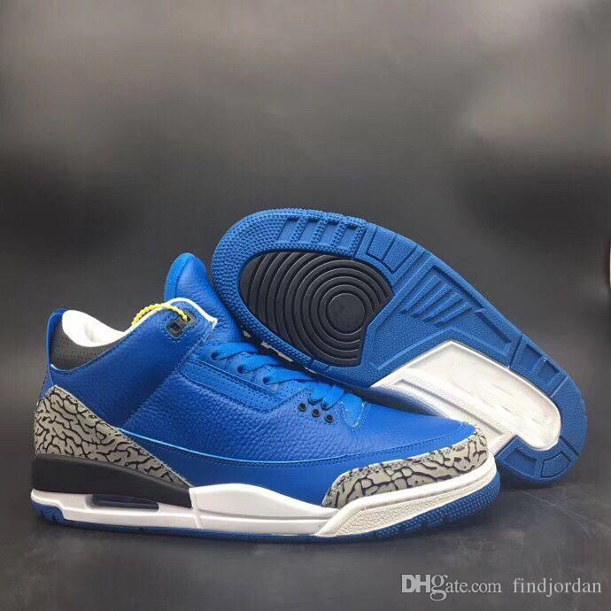 new arrivals cb43a 1aea2 High quality 2019 New 3s Another One Mens Basketball Shoes Designer outdoor  Sneakers We The Best Royal Blue Black White Size US 8-13