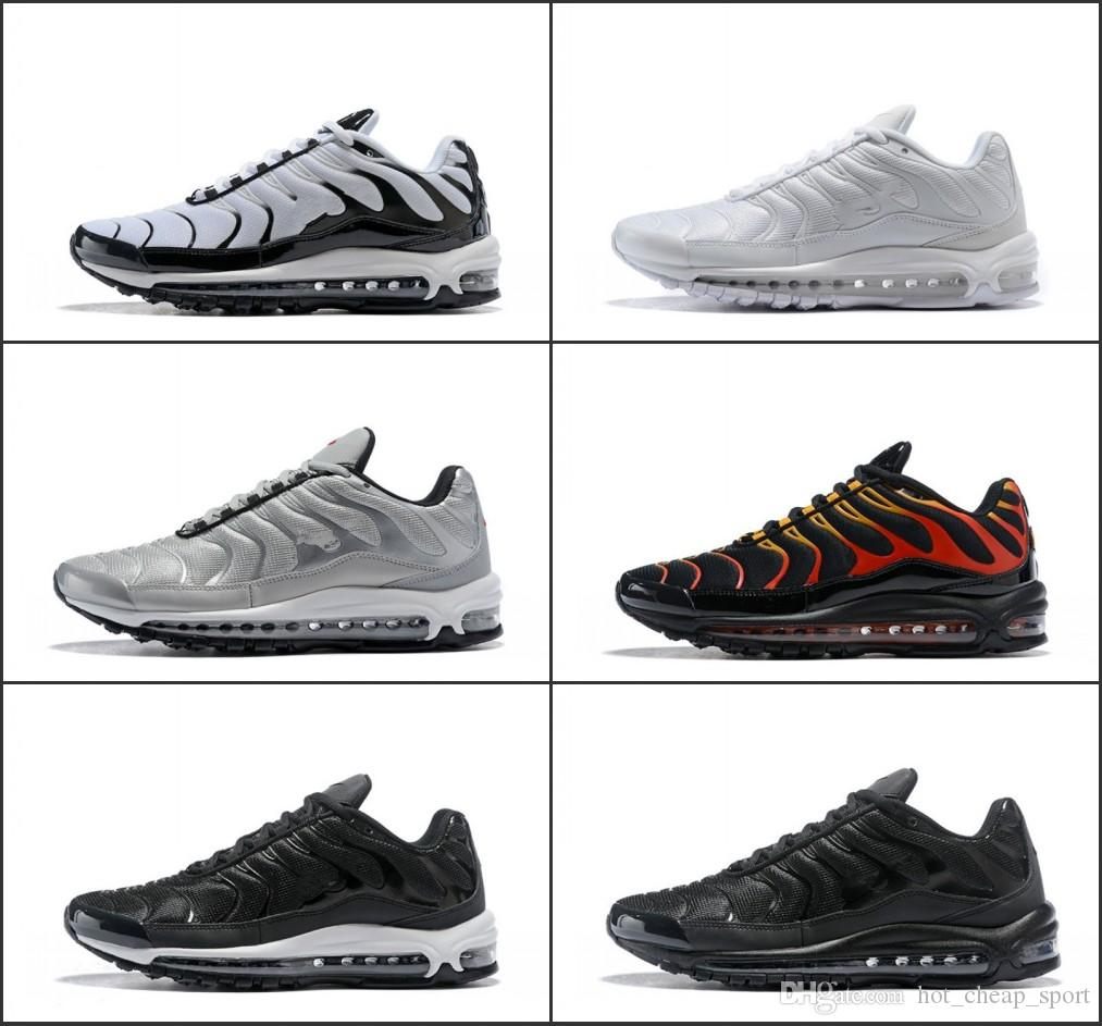 76b29d9762cfbc New 97 Plus SE Tn Tuned Maxes Racer Pink Air Mens Running Shoes Sneakers  97s Tns Fashion Brand Black Shock Orange Womens Trainers Shoe Shop Mens  Sale From ...