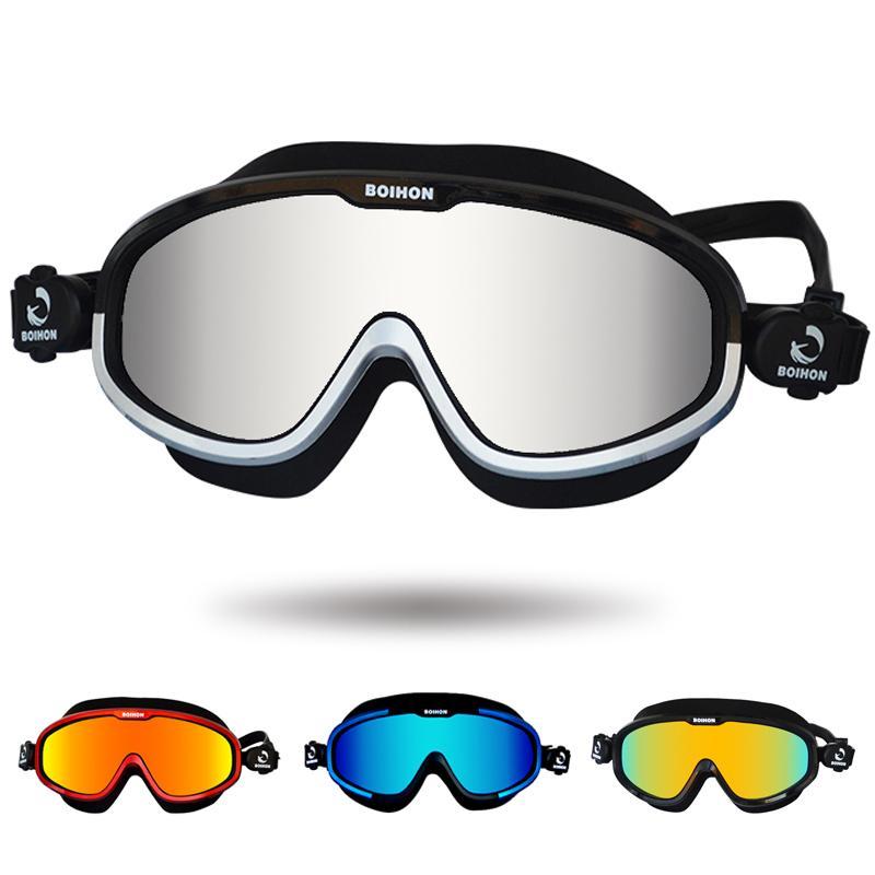 8664788b7 Compre Óculos De Natação Confortável Silicone Grande Quadro Óculos De  Natação Anti Fog UV Homens Mulheres Profissionais Óculos De Natação Máscara  C18112301 ...