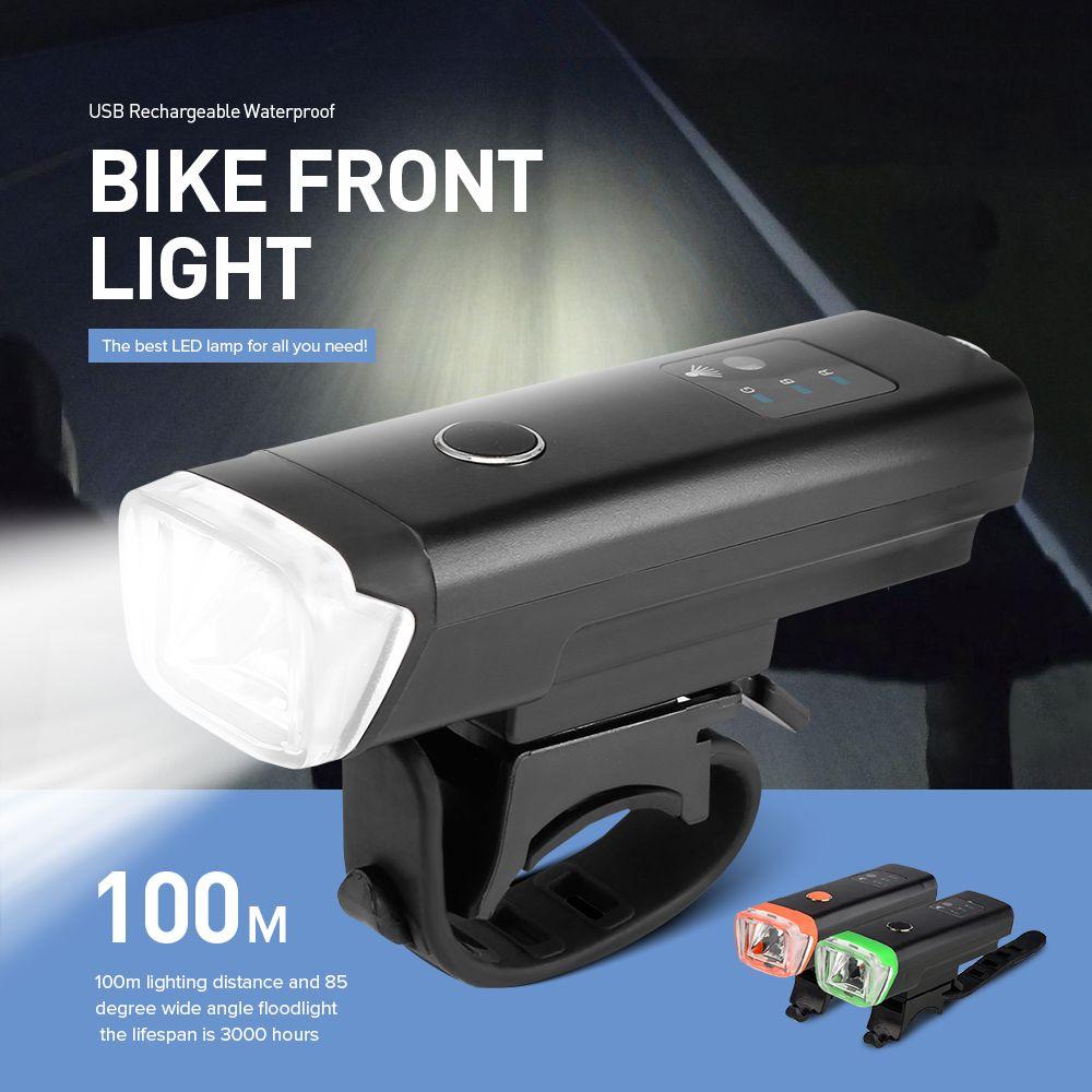 Lumière Sécurité Avant Brillant Imperméable Vélo Lampe Led De Lumières Charge Usb Poche Phare Torche c5Aq4R3Lj
