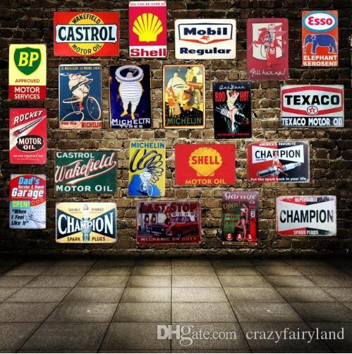 2019 Tin Signs Motor Oil Garage Vintage Tin Sign Metal Plate Wall