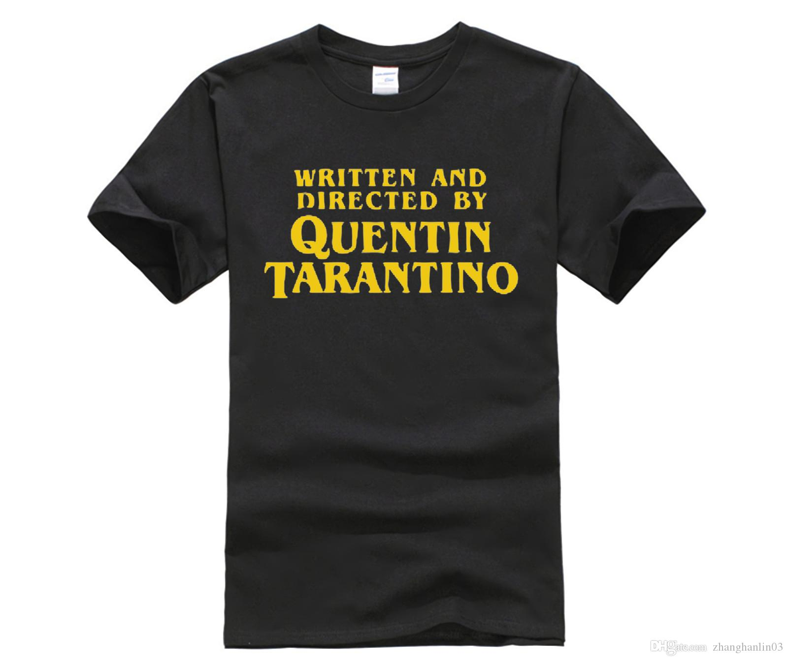 dacacfb3b Designer T Shirt Written And Directed By Quentin Tarantino T Shirt Man  Print Short Sleeve Male Tops Crew Neck Tee Shirt Awesome T Shirts For Sale  White T ...