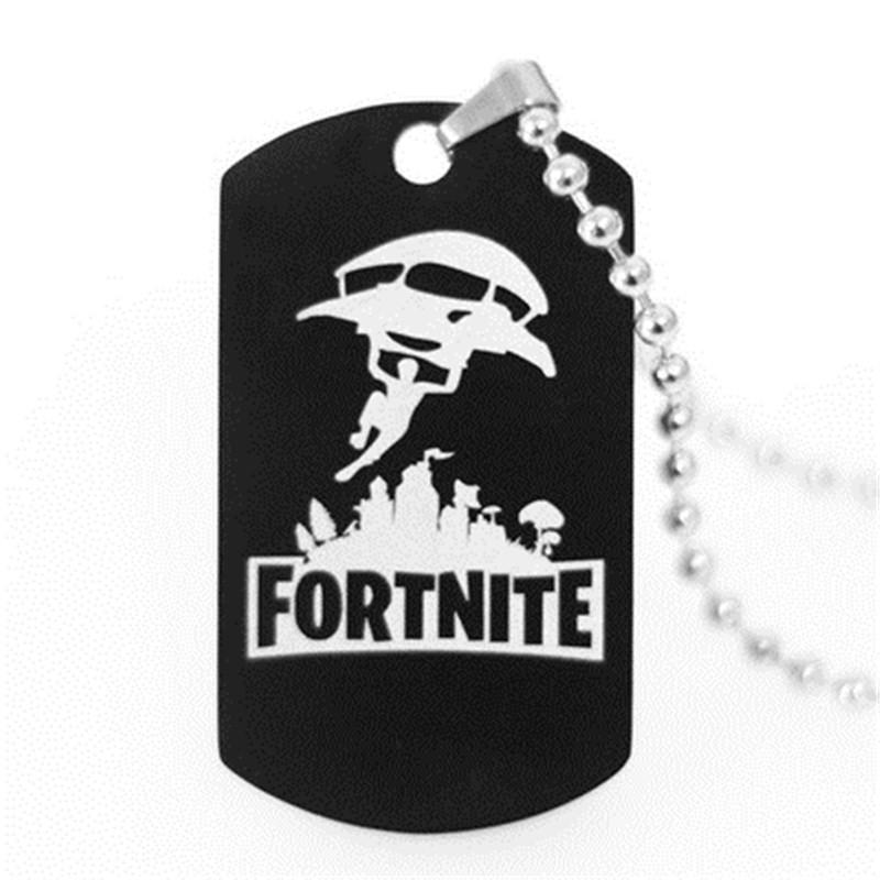 Pendant Drop Necklace Black Stainless Steel Hot FPS Game Fans Souvenirs  Gift Punk Style Men Women Necklaces Hot Fashion Jewelry