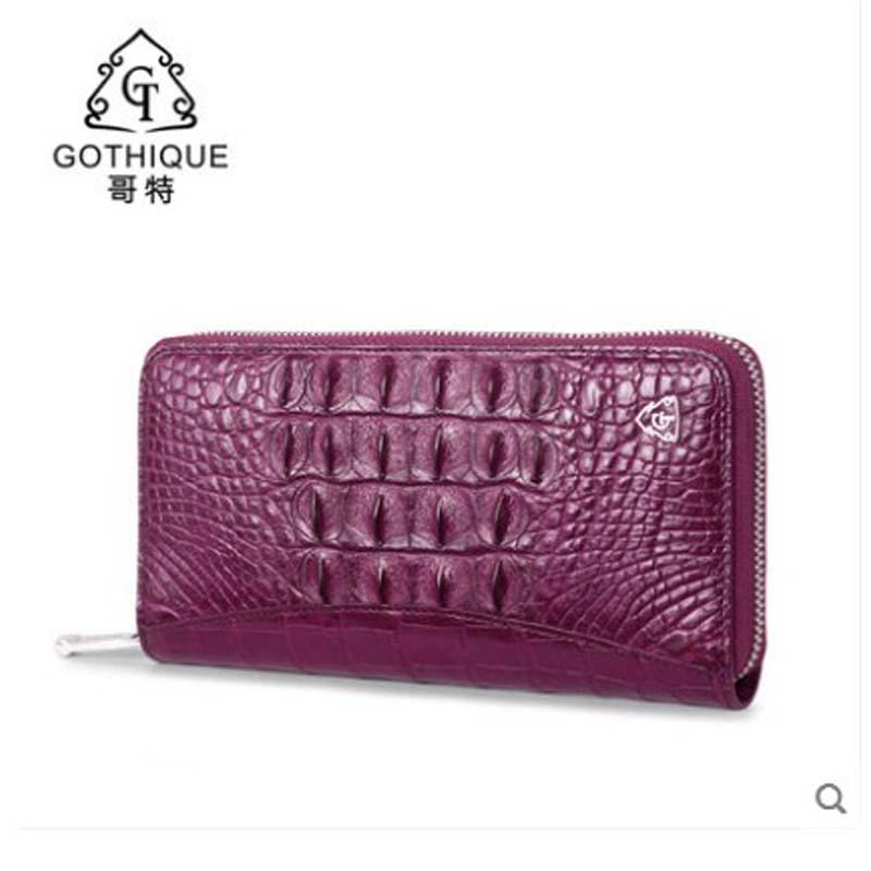 7c93613a11b9 Gete 2019 New Thai Crocodile Leather Handbag For Lady Leather Long Purse  Large Capacity Multi Card Handbag For Lady Cheap Bags Name Brand Purses  From ...