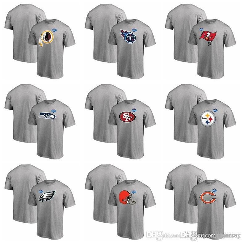 0ab5059763ae7 2018 Philadelphia Eagles Pittsburgh Steelers 49ers Seattle Seahawks  Buccaneers Titans Redskins Mens T Shirts Draft Athletic T Shirt Heather  Gray From ...