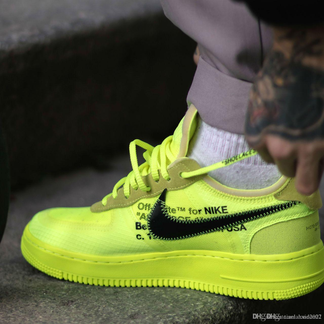 2019 Nuevo producto Zapatillas Nike Air Force 1 Flyknit Low