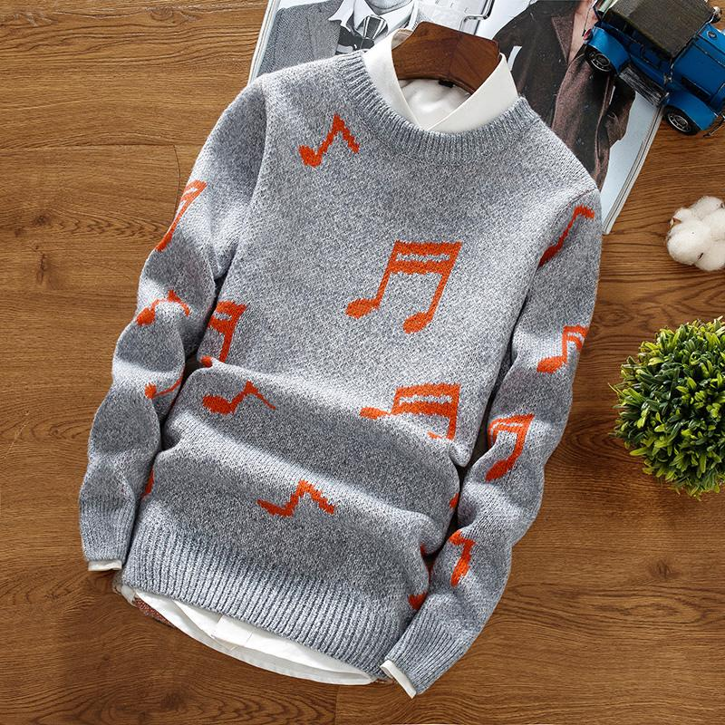 3efa85aaed 2019 2018 New Autumn Winter Round Neck Pullover Men Slim Fit Knitted  Sweater Pull Homme Jersey Hombre Mens Sweaters Fall Knitwear From  Victoriata
