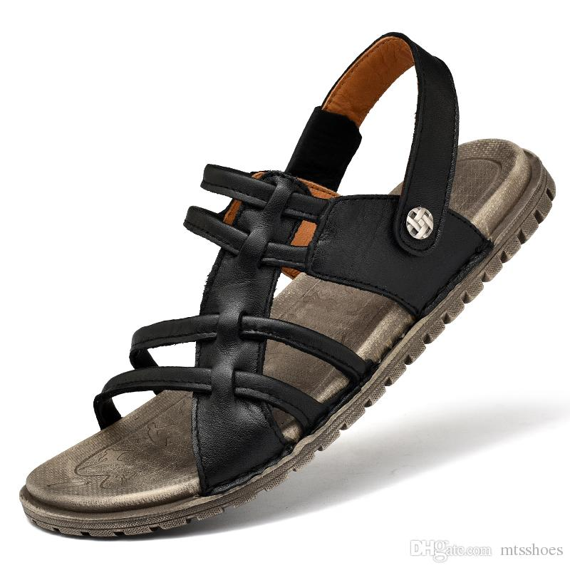 9a5f4ae18 Men S Sandals Outdoor Open Toe Water Beach Sandal Mens Leather Sport Sandal  Classical Sandals Size 39 44 Jelly Sandals Platform Sandals From Mtsshoes