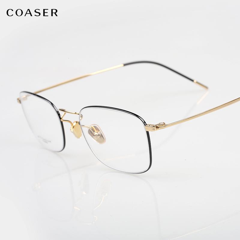 c8484eee69 Compre Sujetador De Gafas Redondas Transparentes De Titanio Super Lighter Hombres  Mujeres Gafas Graduadas Ópticas Gafas Miopía Gafas Transparentes A $42.1 ...