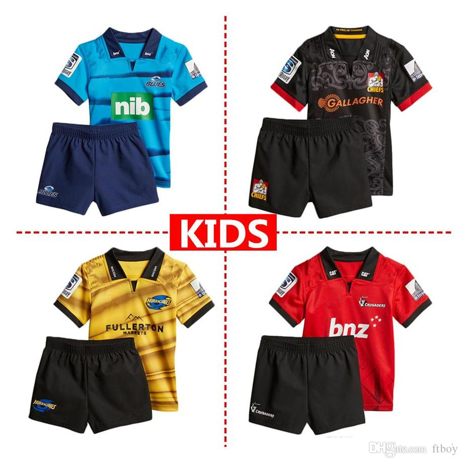 5bc3d3bdb 2019 2018 Crusaders Chiefs Home Rugby Jerseys Kids NRL National Rugby  League Shirt Nrl Jersey New Zealand Club Chiefs Child Kit Shirts From Ftboy,  ...