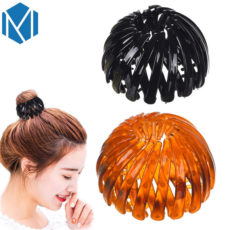 2019 M MISM New Fashion Ponytail Bun Holder Hair Ornaments Adjustable Bud  Hair Clip Hairpin For Women Hair Accessories Flower Claws From Pingwang1 720fe72dab32