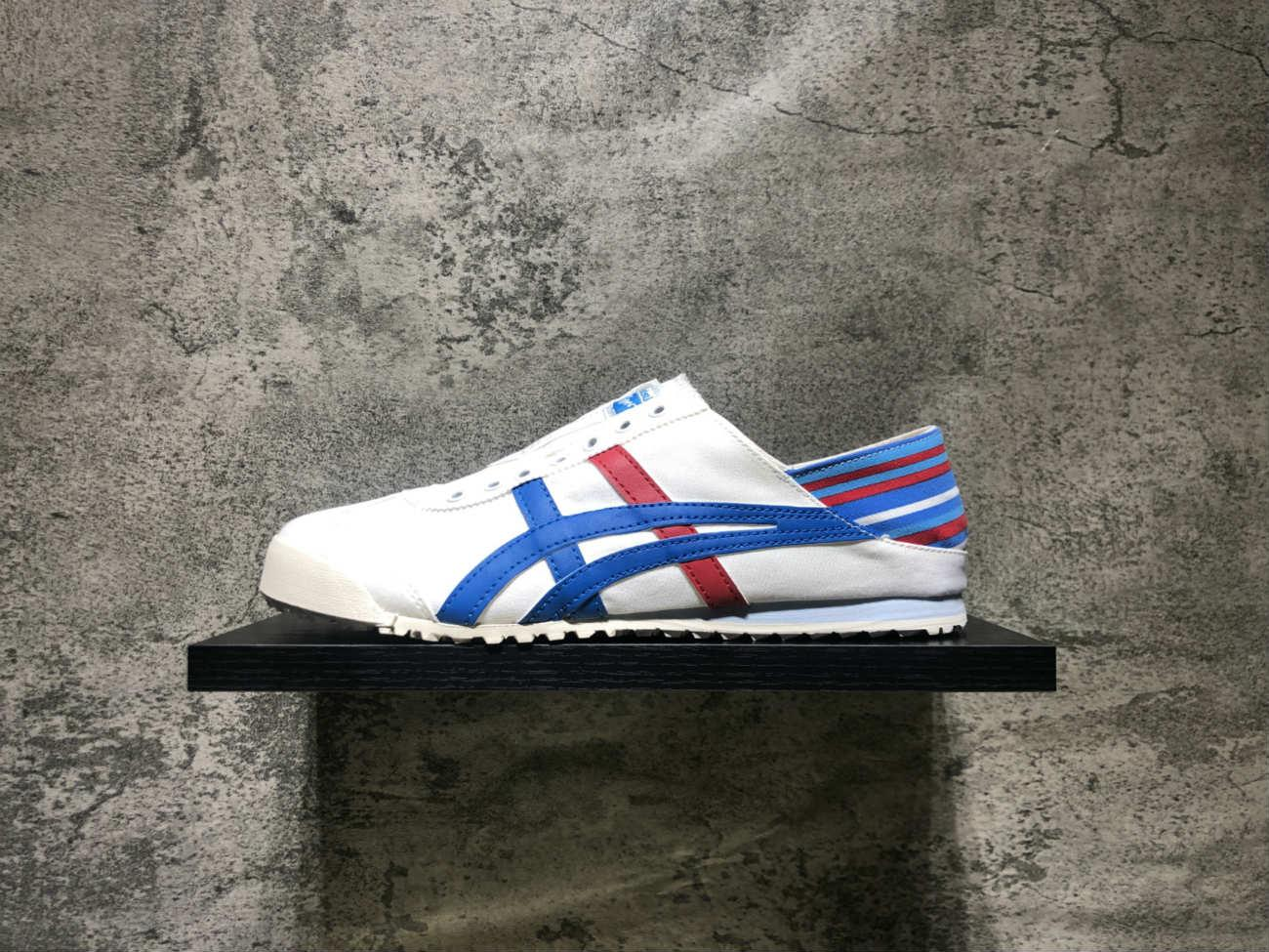 100% authentic dffed c0bcc Onitsuka Tiger Mexico Unisex Canvas Lazy Shoes