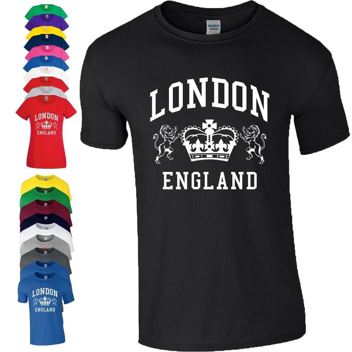 Compre Mens Designer T Shirt Camisa Londres Inglaterra Camiseta Novidade  Lembrança Tourist Holiday Presente De Aniversário Dos Homens Das Senhoras  De Es44 69a469a3f305e