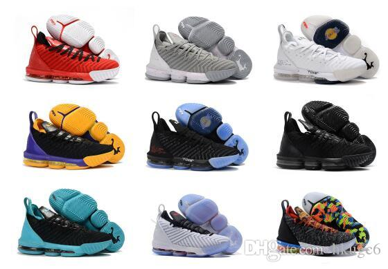 low priced 908a5 6713a Hot Sale Lebron 16 Shoes Equality King Court Purple I Promise King Fresh  Bred 1 Thru 5 Oreo What The LBJ 15s James 7-12