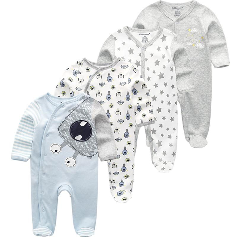 a2e4a64175c66 Baby Clothes 2019 Unisex Kids Long Sleeve 3/4pcs Rompers Newborn Clothing  Animal Jumpsuit Autumn Boy Pajamas J190523
