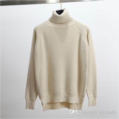 High Quality Turtleneck Sweater Women Winter Thick Pullover Solid ... 7c830b704
