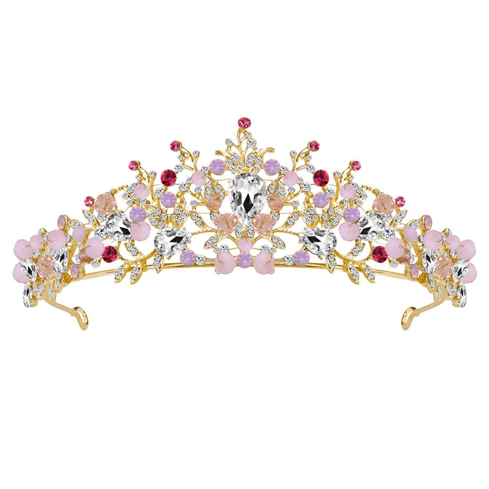 Baroque Vintage Crown Alloy Rhinestones Tiara Bridal Hairband Hair ... cadb78057379