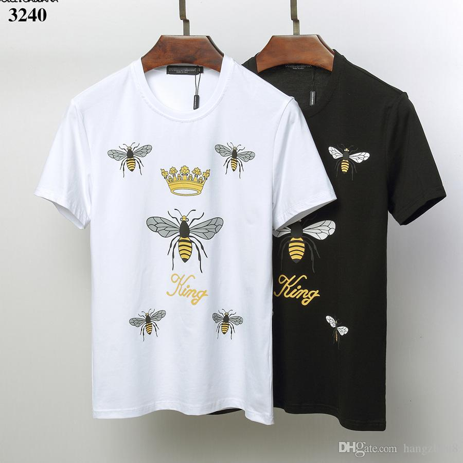 new product f4381 eb197 19ss mens designers t shirts DOLCE & GABBANA shirt Pullover cotton TEE  Short Sleeve hip hop T-shirts mens clothing vetements