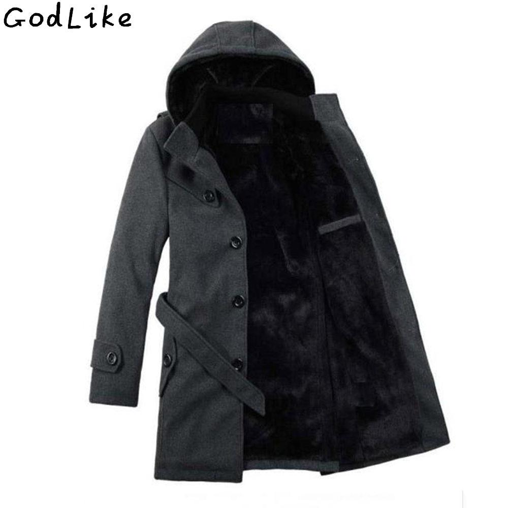 4e6c071333c Winter Jacket Mens Thickening Wool Coat Slim Fit Jackets Fashion Outerwear  Warm Man Casual Jacket Overcoat Plus Size 4XL 5XL 6XL Men Leather Jacket  Nylon ...
