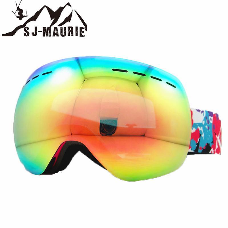 Compre Anti Fog Óculos De Esqui De Inverno Camadas Duplas De Esqui Óculos  De Proteção Máscara De Neve Óculos De Snowboard UV400 Esportes Óculos De  Suipao, ... fc47b15795
