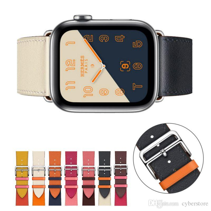 Blue Genuine Leather Crocodile Strap Band For Apple Watch 38mm 40mm 42mm 44mm The Latest Fashion Cell Phones & Accessories Smart Watches