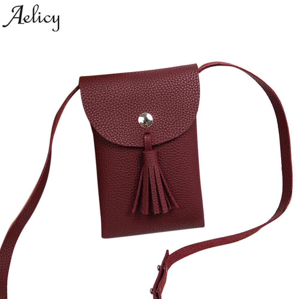 88aaec712e98 Cheap Aelicy Messenger Bags Women Small PU Shoulder Bag Phone Ladies Mini  Purse And Female Handbags Girl Crossbody Bags Tassel Handbag Sale Side Bags  From ...