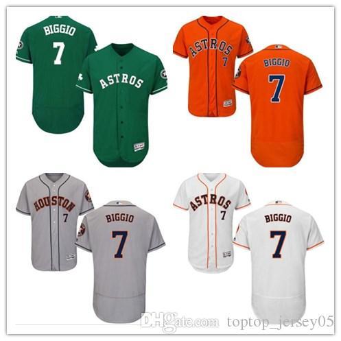 online store a748b cdd07 2018 can Houston Astros Jerseys #7 Craig Biggio Jerseys  men#WOMEN#YOUTH#Men's Baseball Jersey Majestic Stitched Professional  sportswear