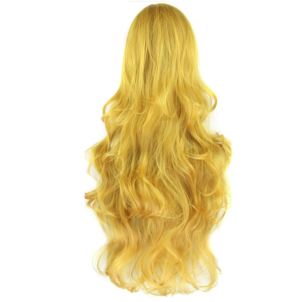 Long Curly Women's Hair Wig Hairpiece Synthetic Hair Yellow Gray Party Hair Cosplay Wigs