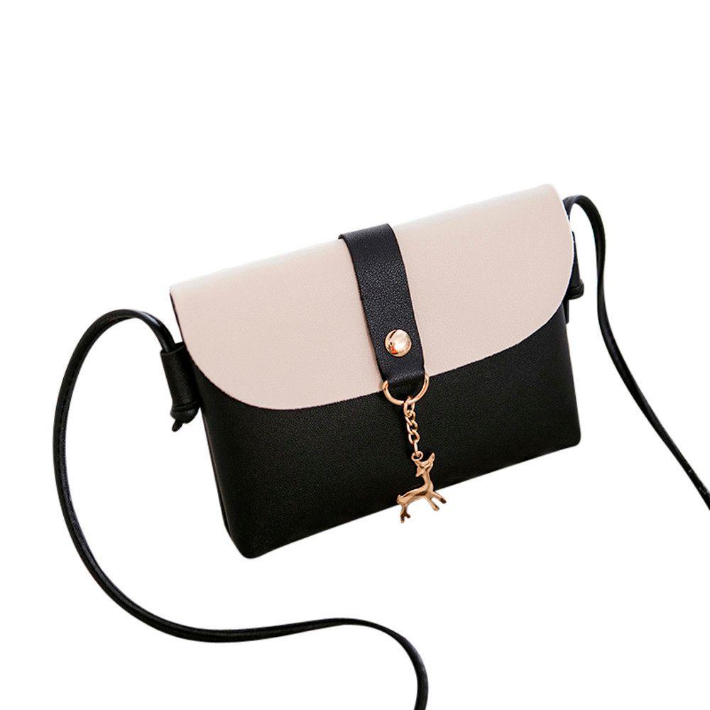 2fafbb891c46 Cheap Women Cover Deer Cross-body Bag Shoulder Phone Coin Bag Ladies  Satchel Tote Bags Quilted Bag Pendant Cute Deer