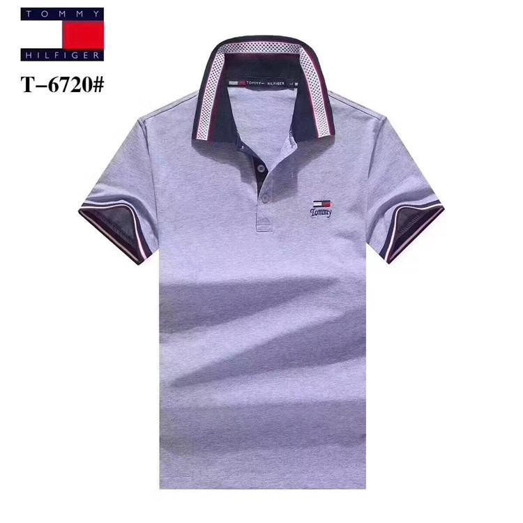 dffe1e4fb63a Summer Custom-made Man Short Sleeve T T-shirt Stripe Lapel POLO Male ...