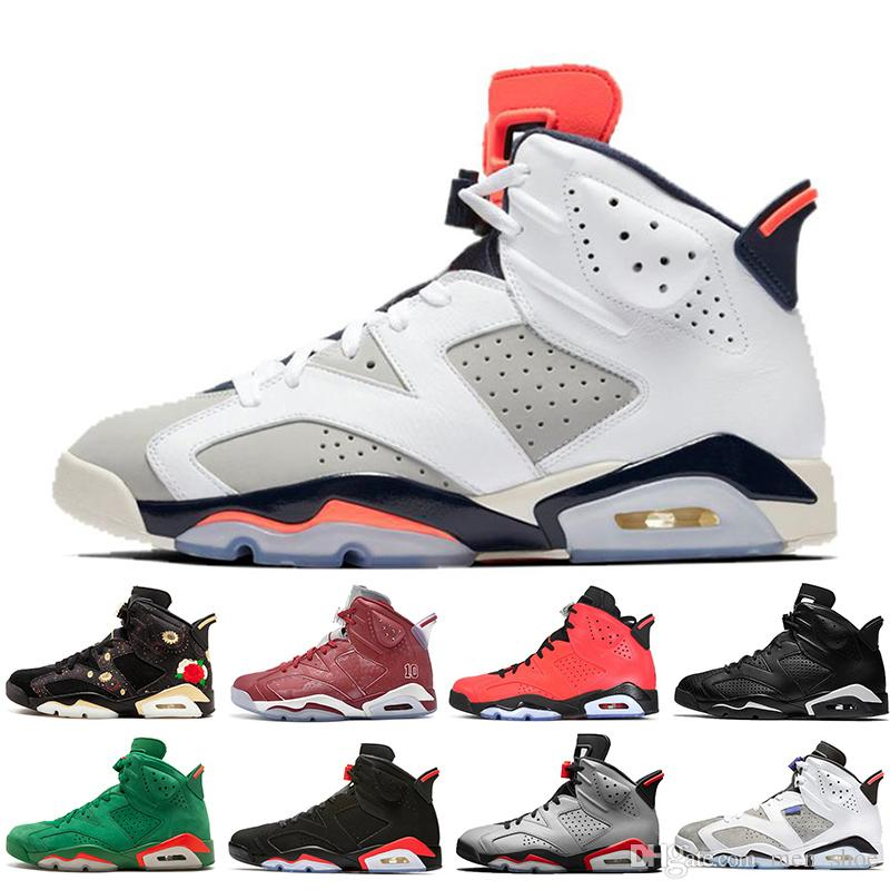 1aa69a3fddcc With Box 2019 Infrared Bred 6 6s Mens Basketball Shoes 3M Reflective ...