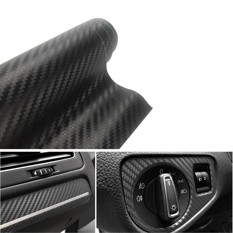 10cmx127cm 3D Carbon Fiber Vinyl Car Wrap Sheet Roll Film Car stickers and  Decals Motorcycle Styling Accessories Automobiles