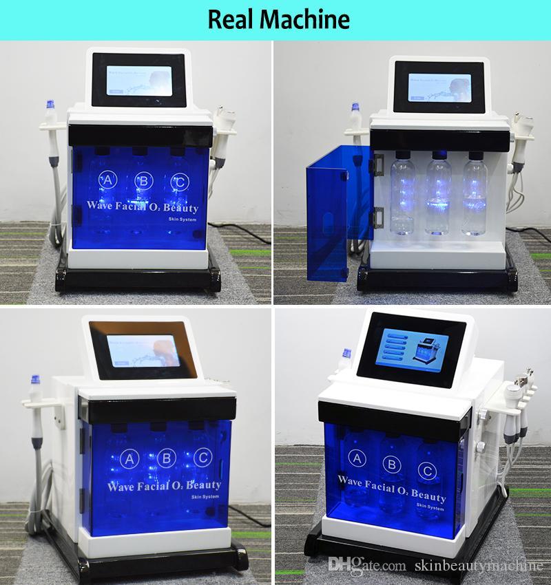 Máquina de peeling da pele de Hydra Máquina de descascamento Bipolar Multipolar RF Ultrasonic Oxigênio Cuidados com a pele Hydra Dermaabrasão Hydro Facial Máquinas