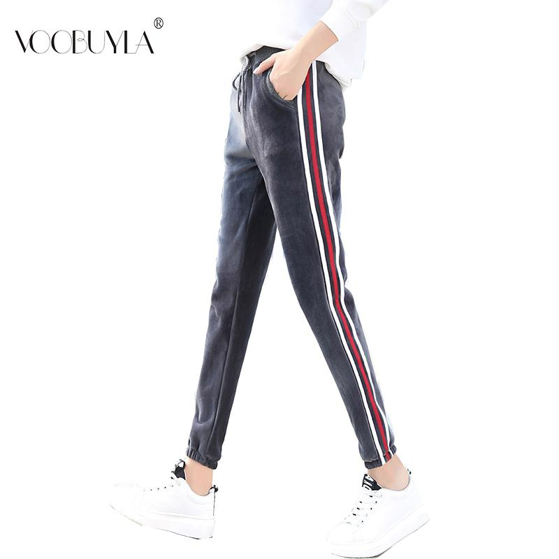 Voobuyla XXL Women Padded Running Jogging Pants Woman Sport Velvet Pants Gym Sportswear Fitness Sport Trouser Active Wear