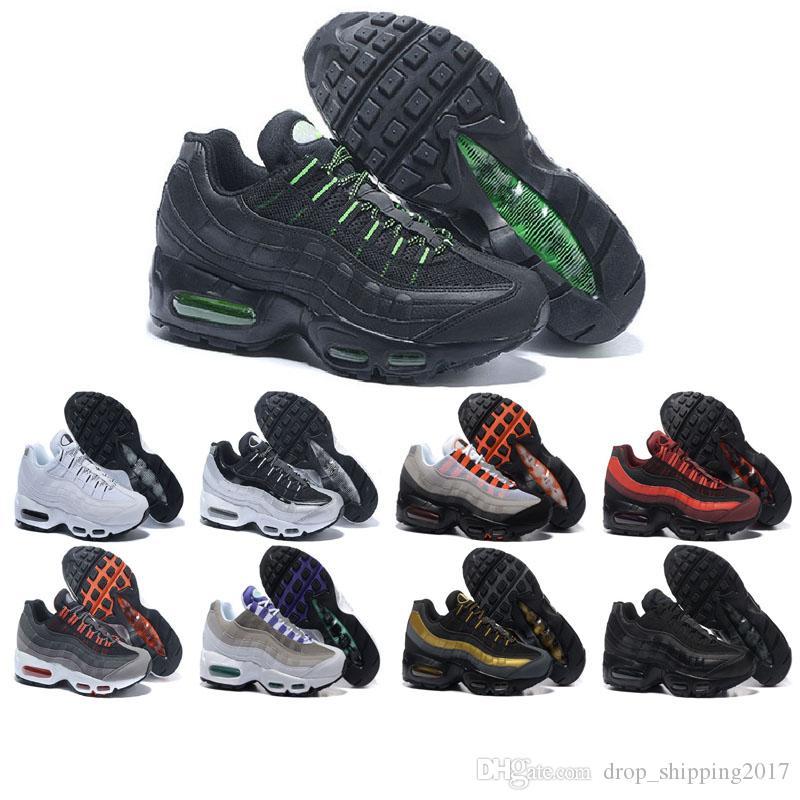 nike air max 95 shoes 2019 nuevos zapatos para correr para hombre, mujer, zapatillas de deporte, negro, blanco, zapatos casuales, rojo amarillo para
