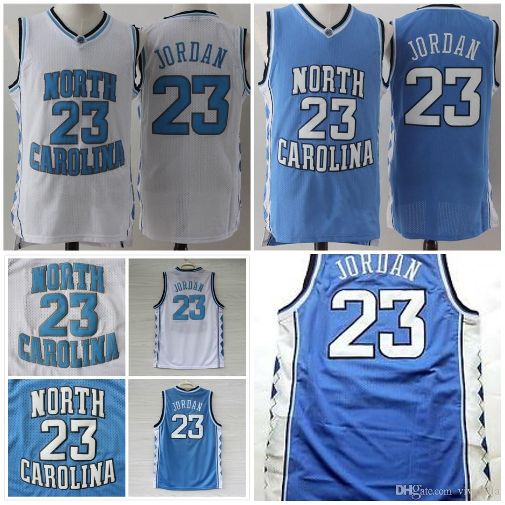 c0112b440a5a 2019 Michael  23 NCAA North Carolina Tar Heels Jerseys Men College  Basketball Breathable Jerseys Stitched S XXL Free Shopping From Vivavilla