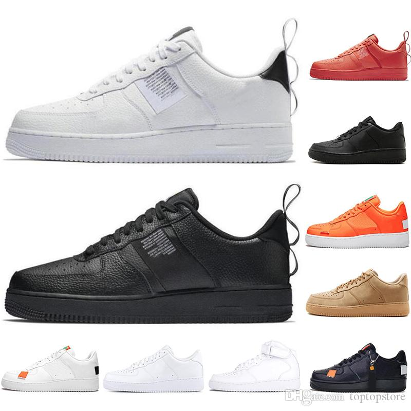 nike air force 1 af1 Dunk Utility Running Shoes New Black White Just Orange Wheat Mujer Hombre High Low Cut para hombre Entrenadores Deportes