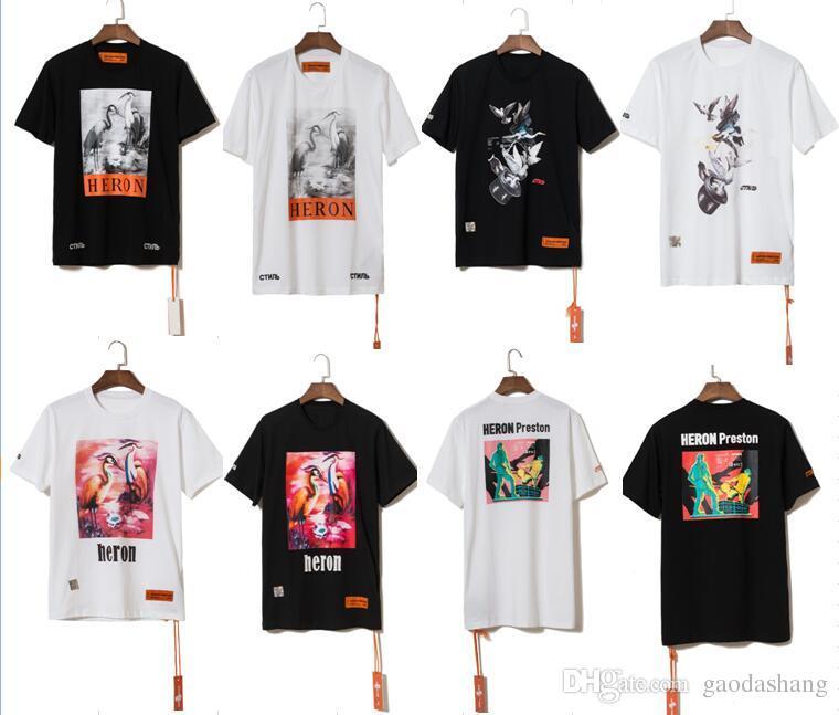 cd9f18bf3 2019ss Summer Style Heron Preston Doves Printed Women Men T Shirts Tees  Hiphop Streetwear Men Cotton Short Sleeve T Shirt S XL Cool Looking T Shirts  Buy ...
