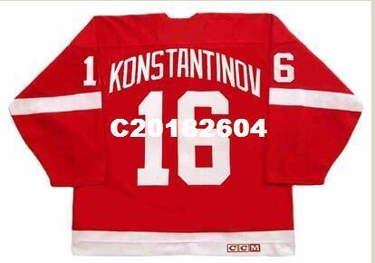 40d1793da ... promo code for men 16 vladimir konstantinov detroit red wings vintage  retro hockey jersey or custom