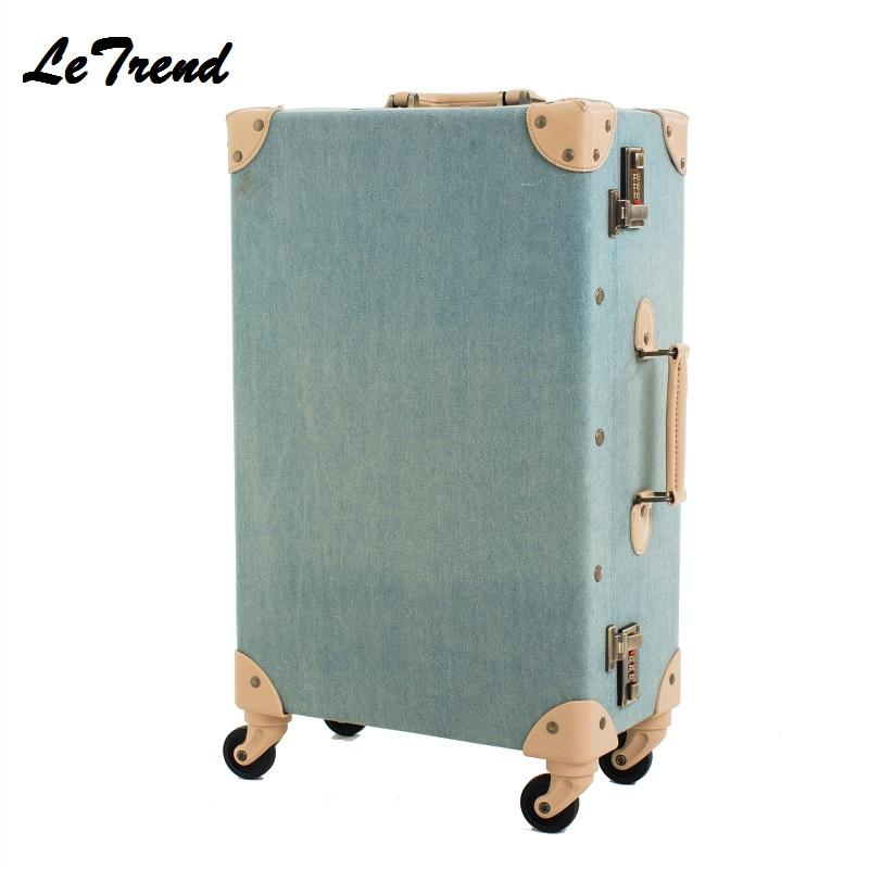 Ongebruikt Großhandel Mode Vintage Koffer Räder PP + PU Leder Rollgepäck PE-68