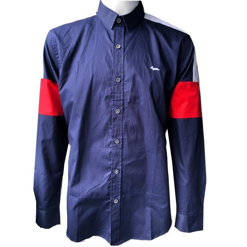 e7766a228bd 2019 2019 New Men Brand Clothing Blouse Casual Business Patchwork Shirt  Harmont Blaine Long Sleeve Blouses Fashion Men S Shirts From Firstcloth